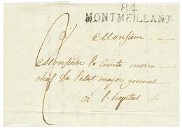 1814 84 MONTMEILLANT Sur Lettre Pour L' HOPITAL. TTB. - Poststempel (Briefe)