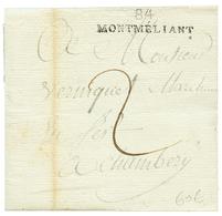 """An 11 84 MONTMELIANT Sur Lettre Avec Texte Daté """"LA CHAVANE"""". Superbe. - Poststempel (Briefe)"""