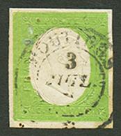 SAVOIE : SARDAIGNE 5c Vert (n°7) TTB Margé Obl. MOUTIERS. Rare Sur Ce Timbre. TB. - Poststempel (Briefe)