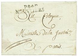 """MOUSTIERS : An 10 P.84.P MOUSTIERS Avec Texte Daté """"BOURG MAURICE"""". TB. - Poststempel (Briefe)"""