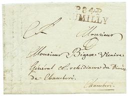 """1805 P.84.P RUMILLY Sur Lettre Avec Texte Daté """"RUFFIEUX"""". TB. - Poststempel (Briefe)"""