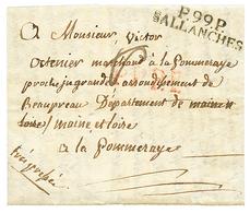 """ST GERVAIS Via SALLANCHES : 1810 P.99.P SALLANCHES Sur Lettre Avec Texte Daté """"ST GERVAIS"""". Rare. TTB. - Poststempel (Briefe)"""