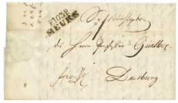 1813 Trés Rare Cachet P.103.P MEURS Sur Lettre Avec Texte Pour DUISBURG. Quelques Lettres Connues. TTB. - Poststempel (Briefe)