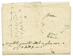 An 13 Cachet Rare DEB.e D' Asti Au Verso D'une Lettre De DUNKERQUE Avec Magnifique Entête Illustrée FLOTILLE DE DUNKERQU - Poststempel (Briefe)