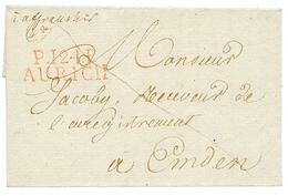 1813 P.124.P AURICH En Rouge Sur Lettre Avec Texte Pour EMDEN. TTB. - Poststempel (Briefe)