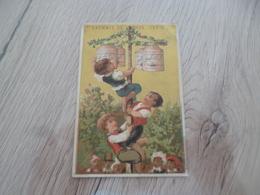 Chromo Ancien Publicitaire  XIXème Liebig Véritable Extrait De Viande  Liebig Enfants Manège Un Pli - Liebig