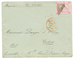 """""""PALESTINE - RAMLEH """" : 1881 EGYPT 1p Canc. RETTA On Envelope With Full Text (6 Pages) Datelined """"RAMLEH 9 Aout 1881"""" To - Palestine"""