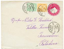 EGYPT To PALESTINE : 1900 EGYPT P./Stat 5m+ 1m+ 3m Canc. CAIRO To JERUSALEM With Arrival Cds. Vf. - Palestine