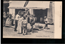 CHILE Costumbres Chilenas III Ca 1915 OLD POSTCARD 2 Scans - Cile