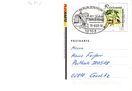 "BRD Amtliche GZS-Sonderpostkarte PSo 77 II  WSt ""Leonhart Fuchs"" SSt 13.8.2001 BERLIN ZENTRUM - [7] Federal Republic"
