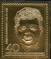 Edition Raritäten In Gold Deutschland #453 ** 50€ Mit 23 Karat Feingold Kennedy Berlin Porträt Stamp Of BRD Germany - [7] Federal Republic