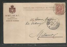 Cartolina Del 58° Battaglione Fanteria Zona Di Guerra 1915 - Guerre 1914-18