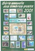 NOUVELLE CALEDONIE - ENVELOPPE SERIE ANNUELLE DES TIMBRES POSTE DE 2001 (sans Timbre) - Neukaledonien