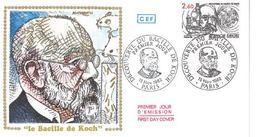 FDC Découverte Bacille De Koch (Paris13/11/1982) - FDC