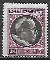 VATICAN     -   1945 .    Y&T N° 118 *. - Neufs