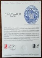 COLLECTION HISTORIQUE - YT N°2461 - PHILEXFRANCE 89 / LIBERTE - 1987 - 1980-1989