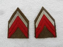 Paire De Galons Caporal Chef Militaire France Modèle 45 - Patches