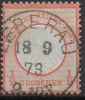 REICH - 1873 - ADLER PETIT ECUSSON - YVERT N° 3a OBLITERE LIEPVRE LEBERAU (HAUT-RHIN / ALSACE) - COTE TIMBRE = 60 EUR. - 1849-1876: Classic Period