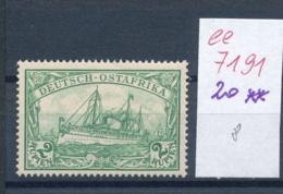 DOA - Nr. 20 **   (ee7191  ) Siehe Scan - Colony: German East Africa