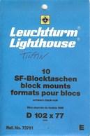 Leuchtturm - Blocs 102x77 Fond Noir (Réf. 73761) - Bandes Cristal
