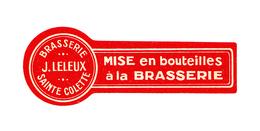 Rare Ancienne Étiquette Bière Br. J.LELEUX, St. Colette (Bieretiketten, Beer Label) - Bière