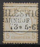REICH - 1872 - ADLER PETIT ECUSSON - YVERT N° 6 OBLITERE SCHLESWIG BAHNHOF - COTE = 125 EUR. - Oblitérés
