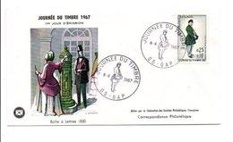 1967 FDC JOURNEE DU TIMBRE - GAP - FDC