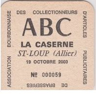 Sous Bock De Biere Commémoratif; Brasserie PELFORTH Salon De Collectionneurs ABC St Loup Allier - Bierdeckel