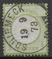 REICH - 1873 - ADLER GROS ECUSSON - YVERT N° 14 OBLITERE SCHIRMECK (BAS-RHIN / ALSACE) - 1849-1876: Classic Period