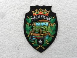 Insigne Badge Militaire Tissu France Mécanicien - Patches