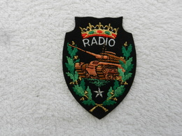 Insigne Badge Militaire Tissu France Radio Blindé - Patches