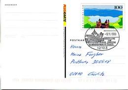 """BRD Amtliche GZS-Sonderpostkarte PSo 60 I """"PLUSKARTE """" WSt """"Eifel"""" SSt 9.11.1999 BERLIN ZENTRUM - Postcards - Used"""