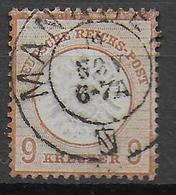 REICH - 1872 - ADLER GROS ECUSSON - YVERT N° 24 OBLITERE MANNHEIM - COTE = 400 EUR. - Duitsland