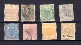 1874-80   Luxembourg ,armoiries, Entre 26 Et 36 Ob, Cote 143 € - 1859-1880 Armoiries