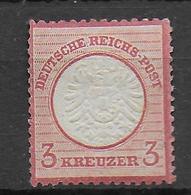 REICH - 1872 - ADLER GROS ECUSSON - YVERT N° 22 * MH  - COTE = 28 EUR. - Deutschland