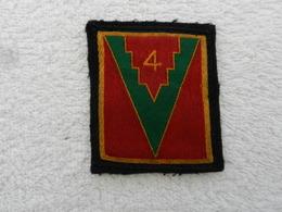 Insigne Badge Militaire Tissu France 4ème Division D'infanterie - Patches