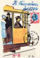 [DC7992] CPM - CENTENARIO TRASPORTO PUBBLICO - BOLOGNA - A.T.M. - IL TRAMVIERE DEL 1904 - NV - CON ANNULLO - Cartoline
