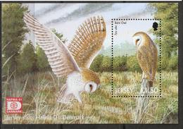 Jersey 2001 Owl - Hafnia 01Mi Bloc 30 I, MNH(**) - Jersey