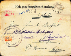 BELGIUM INCOMING MAIL FROM CELLE TO CINEY + REFORWARDED - Guerre 14-18