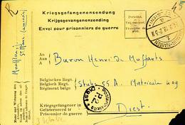 BELGIUM PC FROM NAMUR TO DIEST - Prisioneros