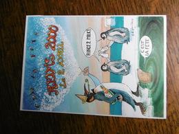 D 51 - Reims  - 2 Avril 2000 -dessin A Le Guilloux Autographe Dedicace - Pingouin - Reims
