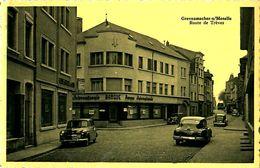 Cpsm GREVENMACHER S/ MOSELLE - Route De Trèves - Caisse D' Epargne, Banque Internationale - Cachet 1955 - Autres