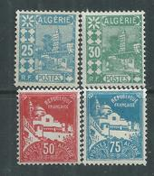 Algérie N° 78 / 79A + 80 A X Types De 1926 , Les 4 Valeurs  Trace De Charnière Sinon TB - Unused Stamps
