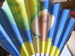 Eventail Publicité Magasin Galeries Lafayette - Femme Art Déco Voir Les 2 Faces Differentes - Advertising