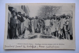 CPA AFRIQUE GAMBIE BATHURST. Musiciens. Danse Patriotique. Musicians Playing With The Ballafong. 9/12/1911. - Gambia