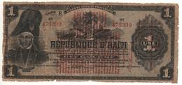 HAITI   1 Gourde   P140    1919 - Haïti