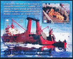 PERU 2008, 20th Anniversary Of The First Peruvian Antarctic Expedition Minisheet** - Perù