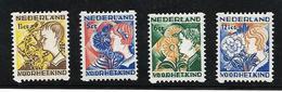 Yvert N° 245a/248a Lichte Klever / Afwijkende Tanding - Period 1891-1948 (Wilhelmina)