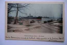 CPA AFRIQUE GAMBIE BATHURST. Navires Commerciaux En Rade De BATHURST. The Roads. 09/12/1911. - Gambie
