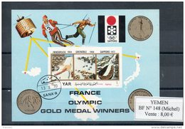 Yemen. Medaille Olympique De La France. Bloc Feuillet - Yemen